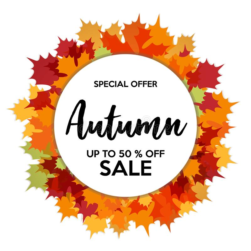 De herfst50% Verkoop van Winkelskorting royalty-vrije stock foto's