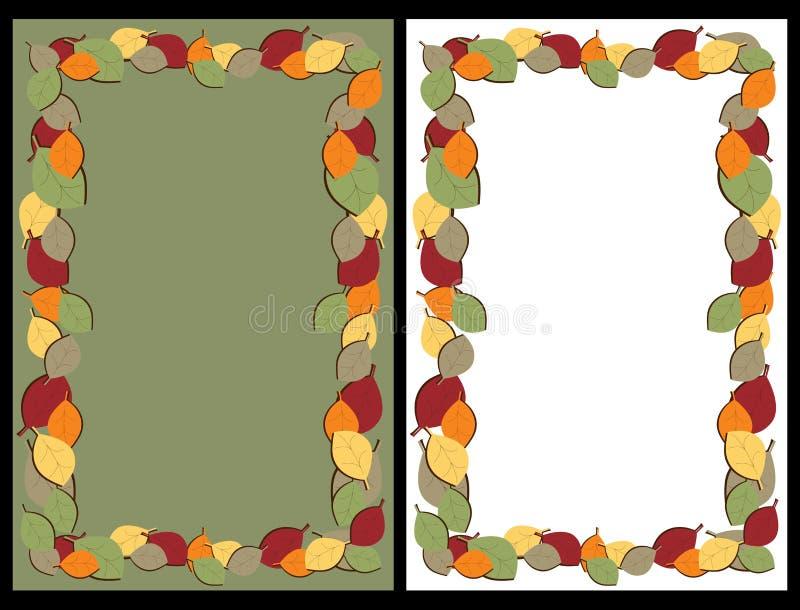 De herfst verlaat frames stock illustratie