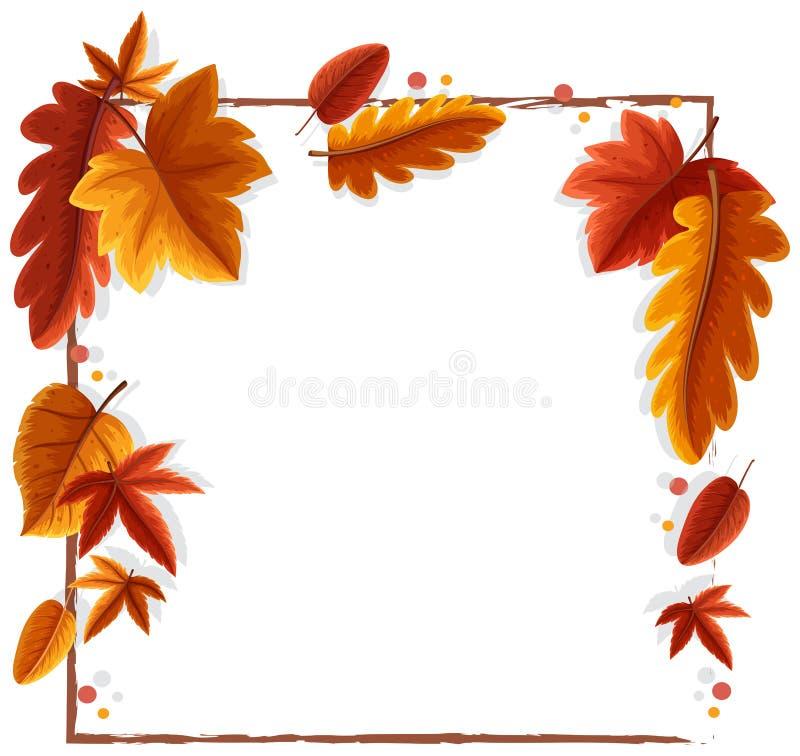 De herfst verlaat kader vector illustratie