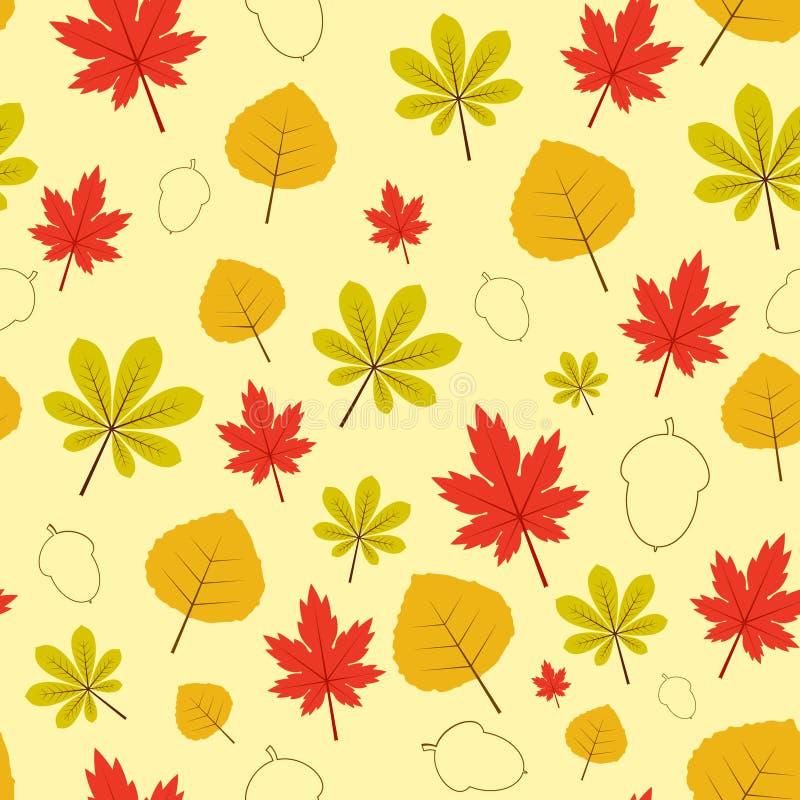 De herfst verlaat Patroon stock afbeelding