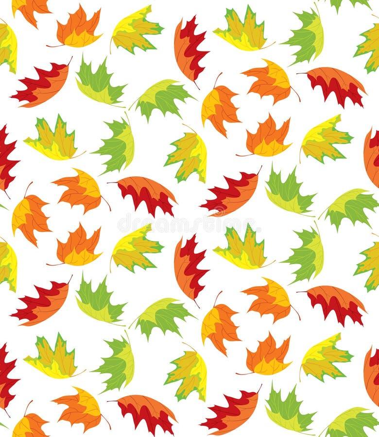 De herfst verlaat Patroon royalty-vrije illustratie
