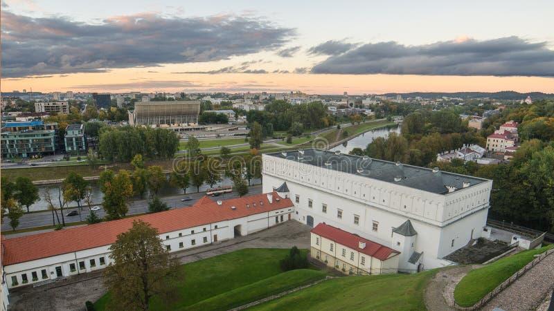 De herfst in Vilnius, Litouwen stock foto