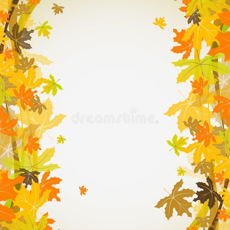De herfstachtergrond van de esdoorn, vector royalty-vrije illustratie