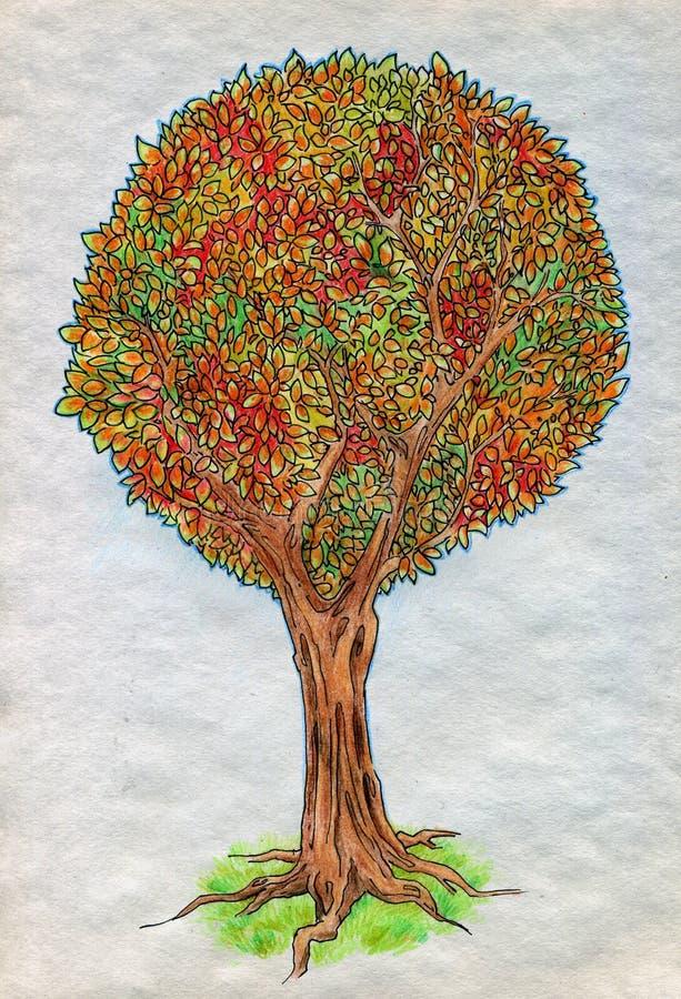 De Herfstboom Royalty-vrije Stock Afbeelding