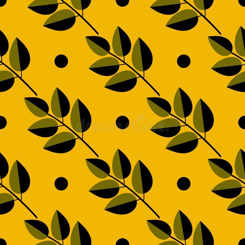 De herfstillustratie met bladeren, groot ontwerp voor om het even welke doeleinden Vector bloemenontwerpkaart Kleurrijke helder D stock illustratie