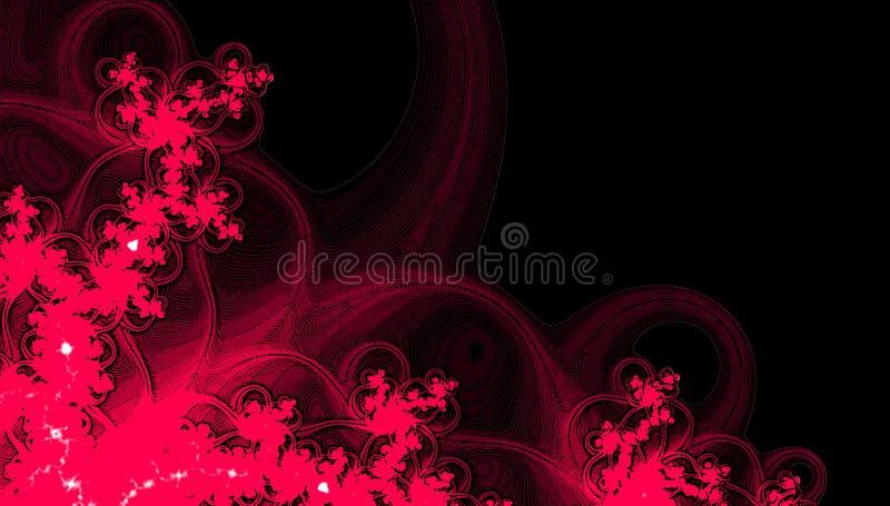 De herfstkader in grenadine en wijnkleuren Gelukkige Dankzegging Digitaal fractal patroon vector illustratie