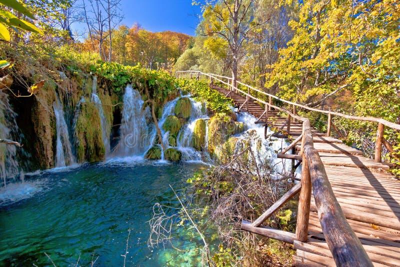 De herfstkleuren van Plitvice-meren nationaal park royalty-vrije stock foto