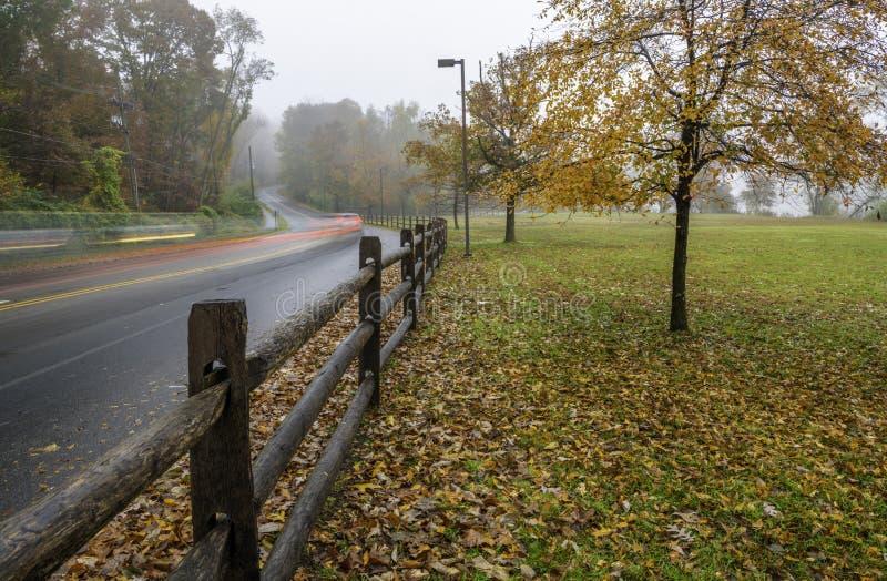 De herfstlandschap in Princeton royalty-vrije stock fotografie