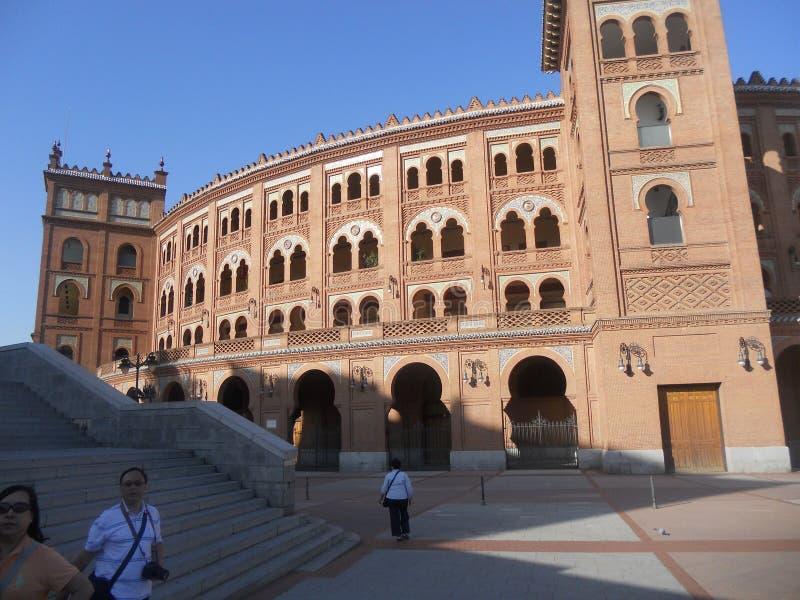 De herfstlandschap in september in Madrid in Spanje royalty-vrije stock afbeeldingen