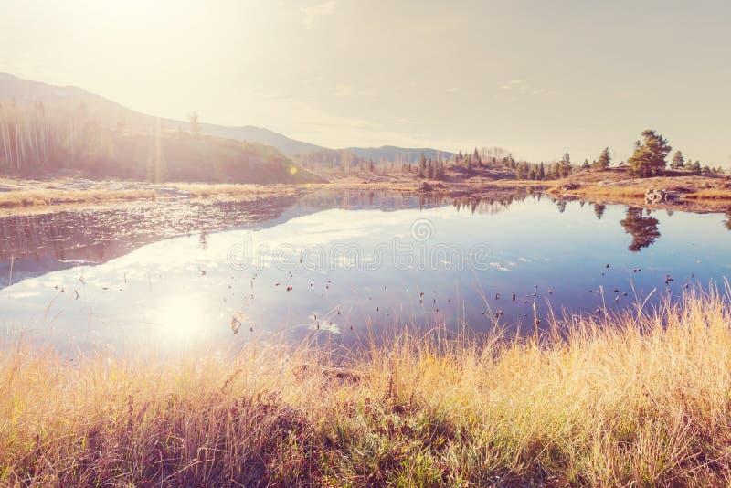 De herfstmeer royalty-vrije stock afbeelding