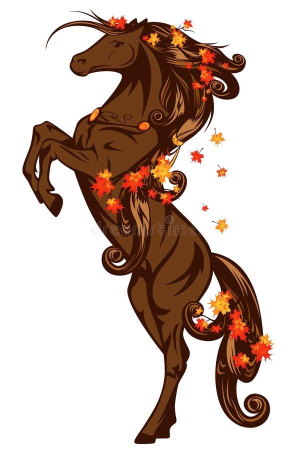 De herfstpaard stock illustratie