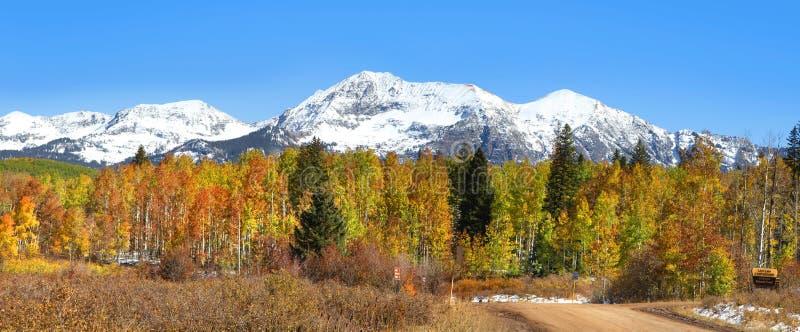 De herfstpanorama van Colorado stock afbeelding