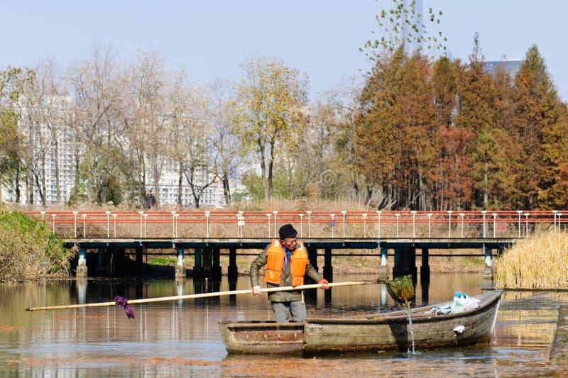 De de herfstscène van een park in Shanghai royalty-vrije stock foto's