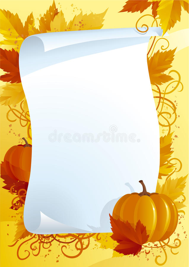 De herfstspatie voor dankzegging stock illustratie