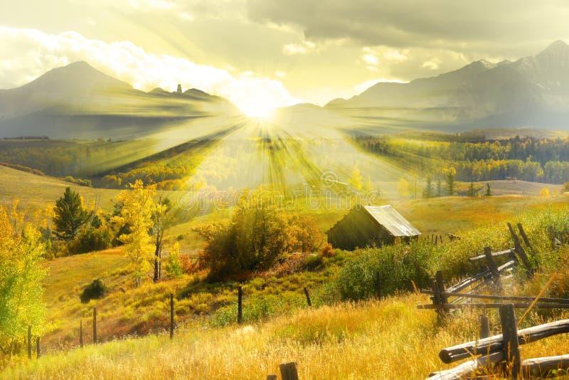 De herfstsprookjesland stock foto's