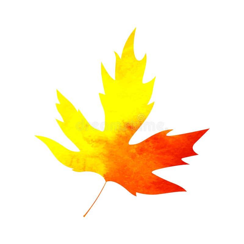 De herfstverkoop het van letters voorzien ontwerp Dalingsblad Etiket, bannermalplaatje royalty-vrije stock afbeeldingen