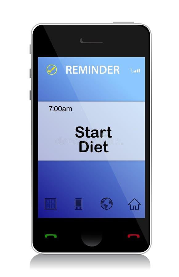 De herinneringstelefoon van het dieet vector illustratie