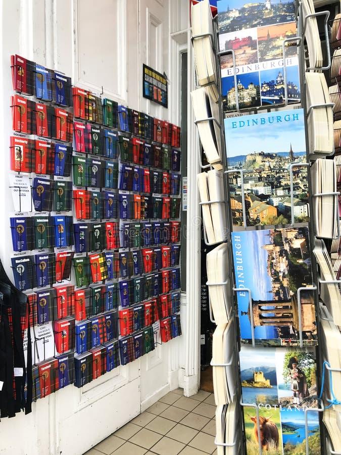 De herinneringswinkel van Edinburgh stock afbeeldingen