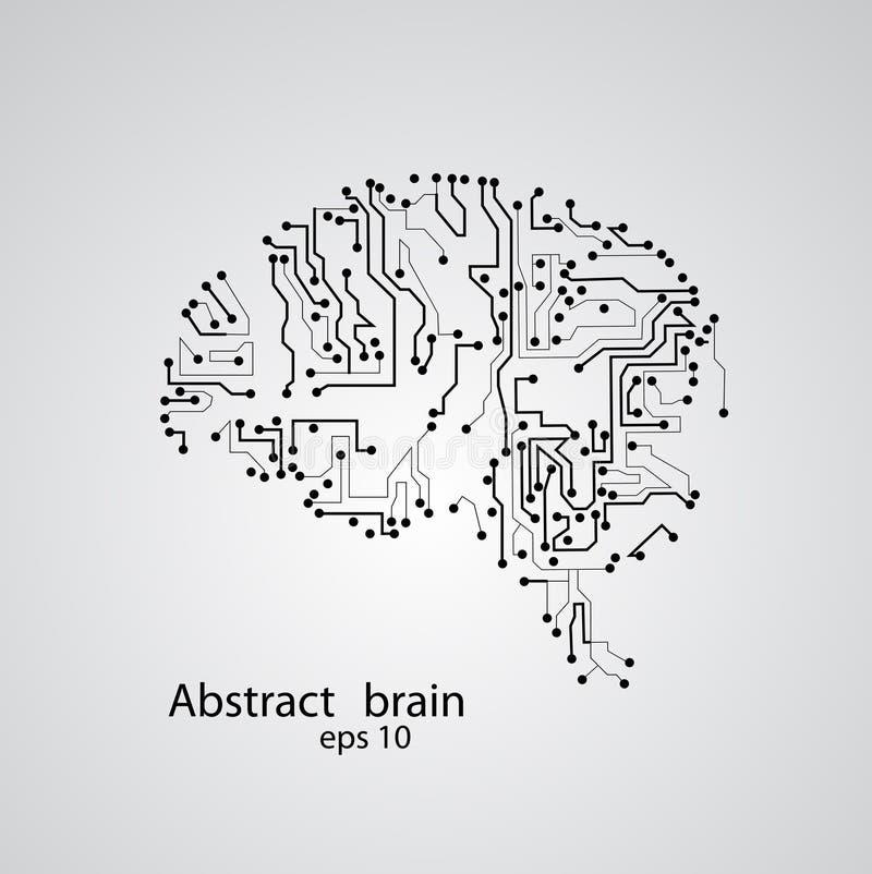 De hersenen eps 10 van de kringsraad vector illustratie