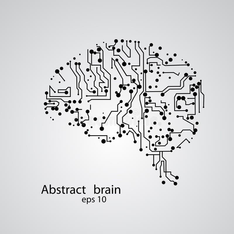 De hersenen eps 10 van de kringsraad royalty-vrije stock afbeeldingen