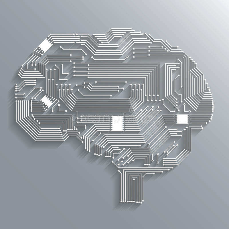 De hersenen van de kringsraad vector illustratie