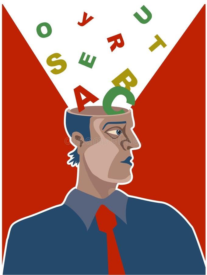 De Hersenen van het alfabet royalty-vrije illustratie