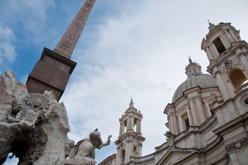 De in het bijzonder obelisk van Piazza Navona in Rome royalty-vrije stock afbeelding