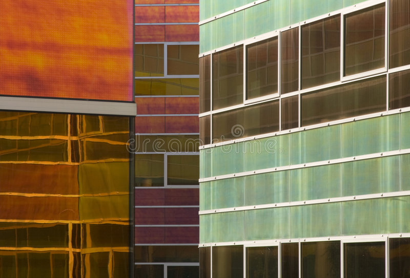 De het bureaubouw 9 van het glas royalty-vrije stock afbeelding