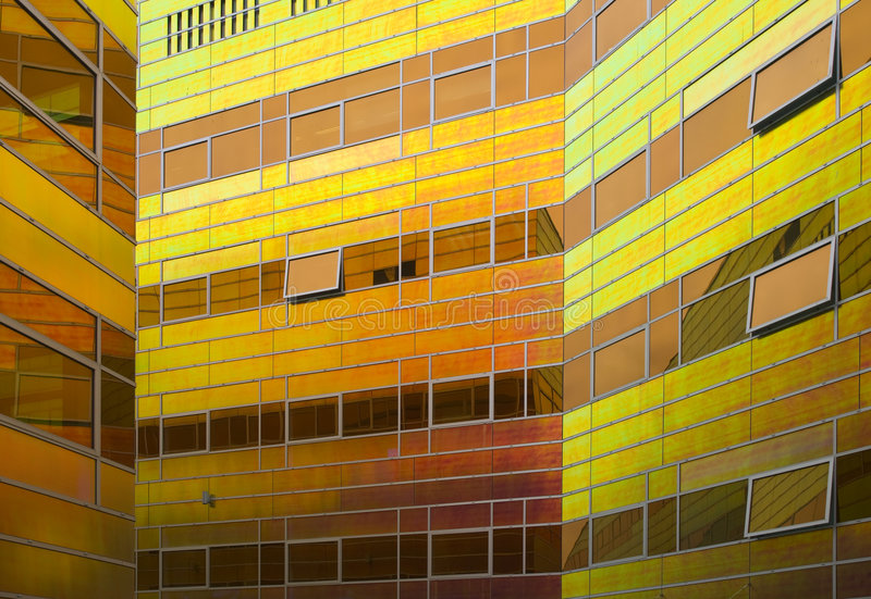 De het bureaubouw van het glas stock afbeelding