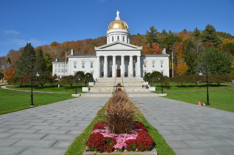De het Capitoolbouw van de staat in Montpelier Vermont stock foto's