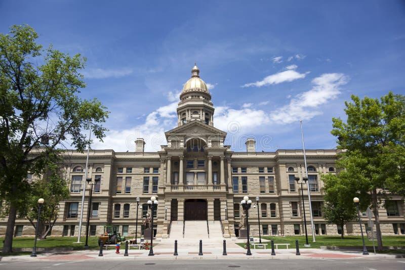 De het Capitoolbouw van de Staat van Wyoming stock foto