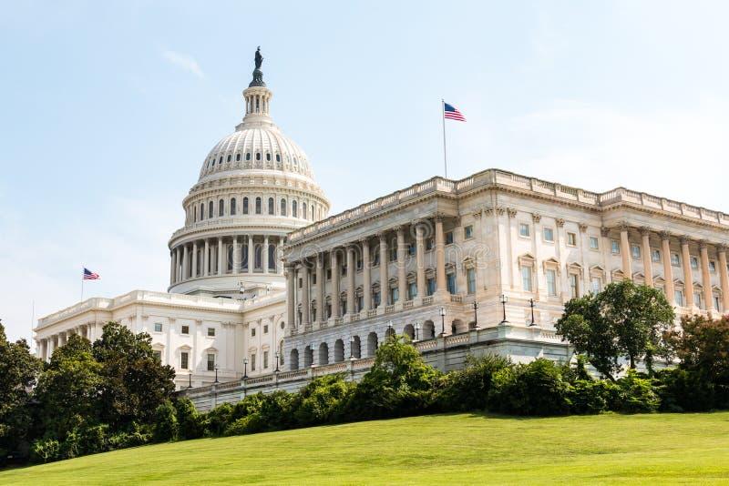 De het Capitoolbouw van de V.S. en Huis van Congres in Washington, gelijkstroom royalty-vrije stock foto
