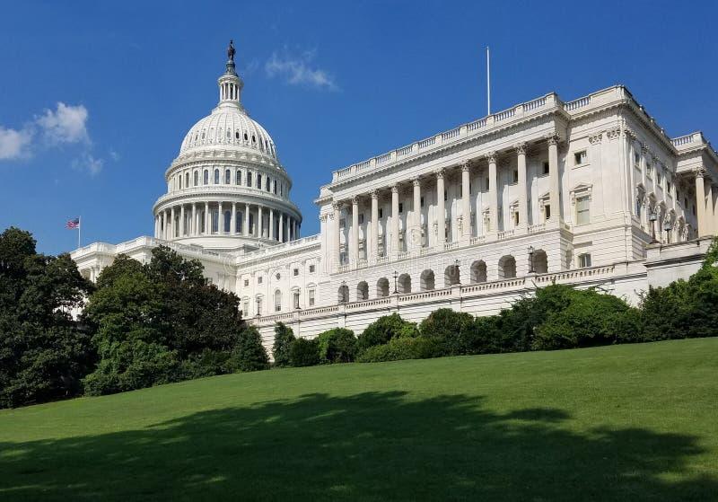 De het Capitoolbouw van Verenigde Staten, op Capitol Hill in Washington DC stock afbeelding