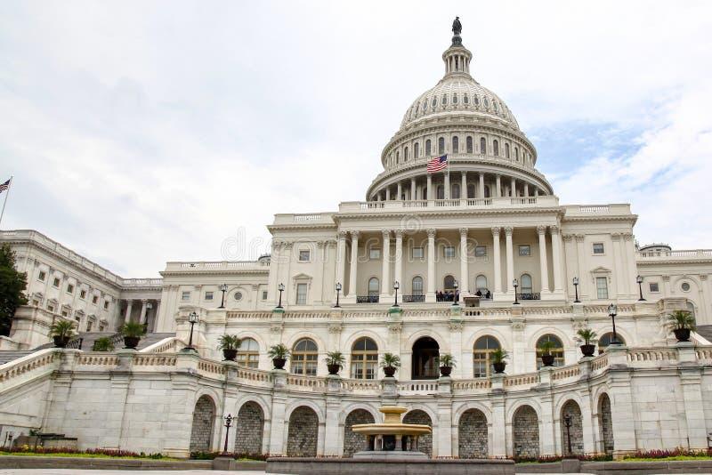 De het Capitoolbouw van Verenigde Staten in Washington DC, de V.S. Het Congres van Verenigde Staten stock afbeelding