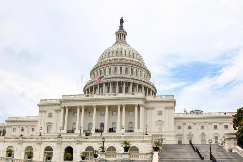 De het Capitoolbouw van Verenigde Staten in Washington DC, de V.S. Het Congres van Verenigde Staten royalty-vrije stock foto
