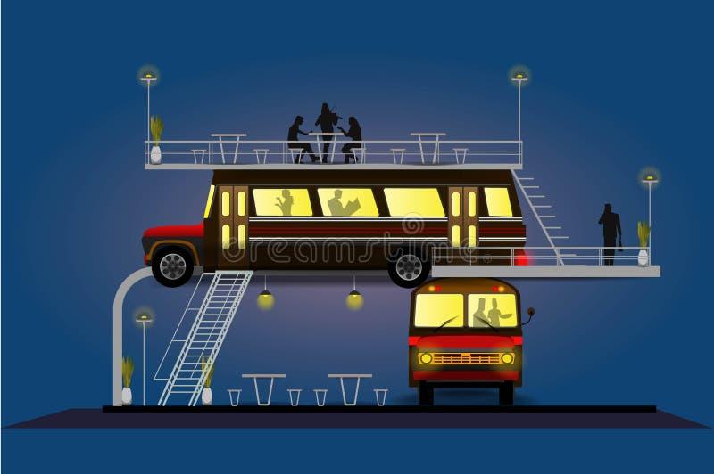 De het droomkoffie en restaurant royalty-vrije illustratie