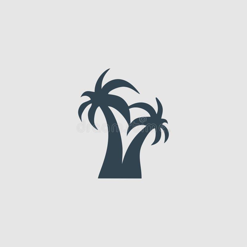 De het embleeminspiratie van het kokospalmmonogram stock illustratie