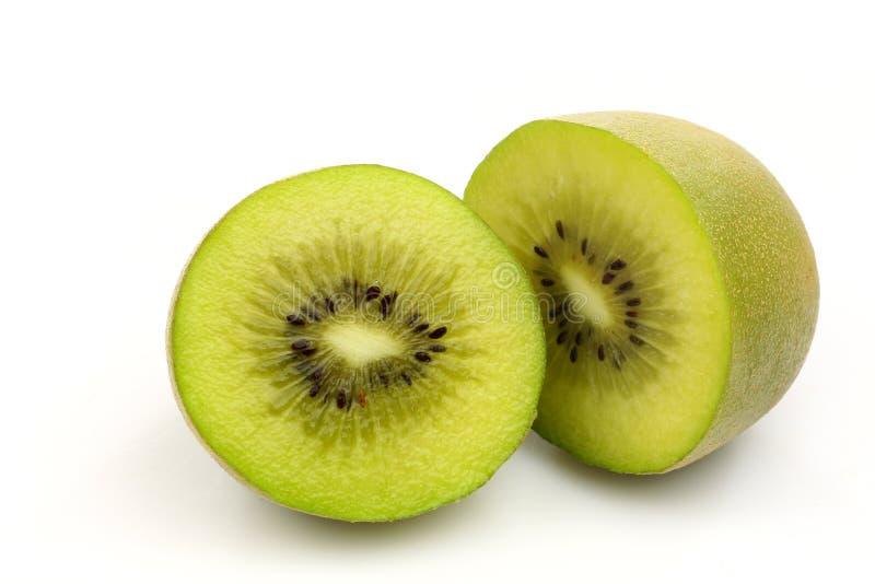 De het fruithelften van de kiwi stock fotografie
