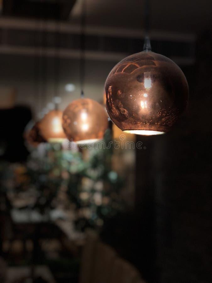 De het Hangen Lichten royalty-vrije stock afbeelding