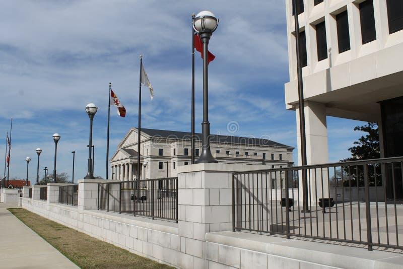 De het Hooggerechtshofbouw van de Mississippi stock afbeelding