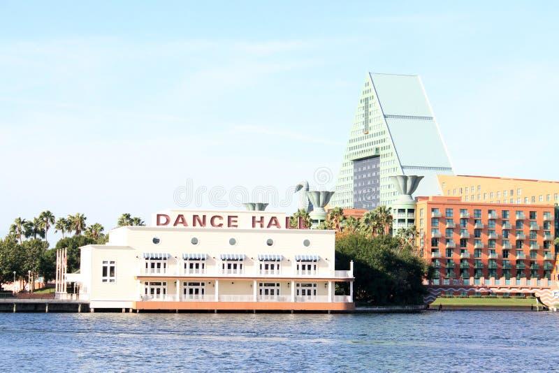 De het Hotelbouw van de waterkant in Florida stock foto