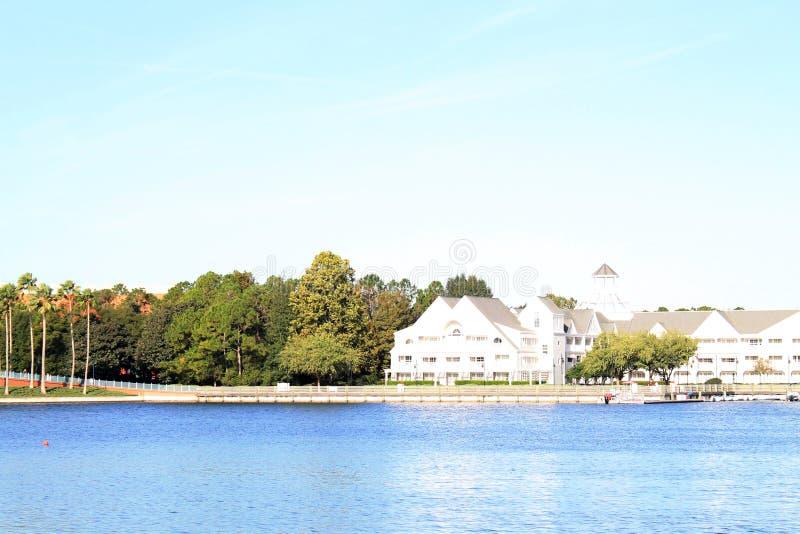 De het Hotelbouw van de waterkant in Florida royalty-vrije stock foto's