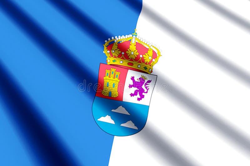 De het kleurrijke golven van Las Palmas en illustratie van de close-upvlag vector illustratie