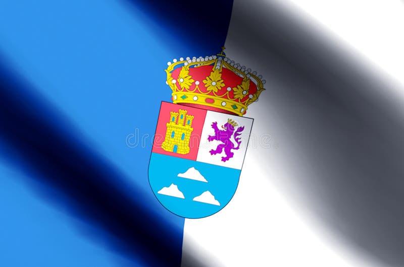 De het kleurrijke golven van Las Palmas en illustratie van de close-upvlag royalty-vrije illustratie