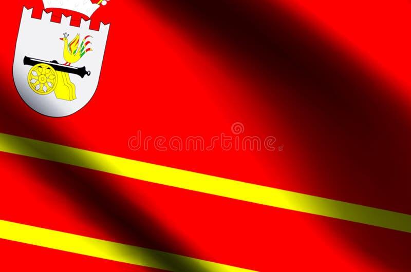 De het kleurrijke golven van Smolensk en illustratie van de close-upvlag royalty-vrije illustratie