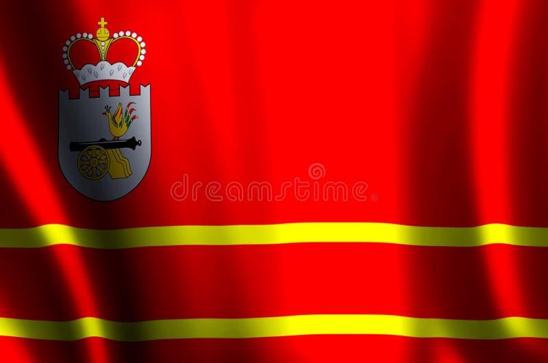 De het kleurrijke golven van Smolensk en illustratie van de close-upvlag stock illustratie