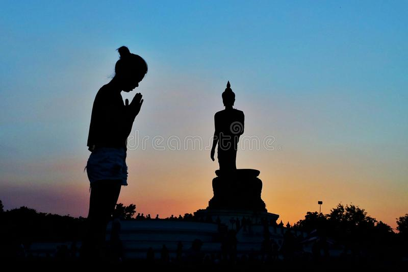 De het levensmanier van Boeddhistisch stock foto