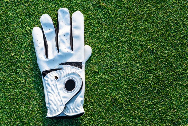 De het materiaal witte handschoen van de golfsport royalty-vrije stock afbeelding