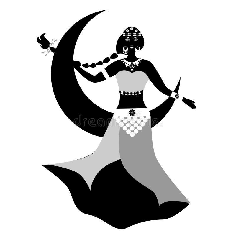De het meisjeszwarte van het oosten royalty-vrije illustratie