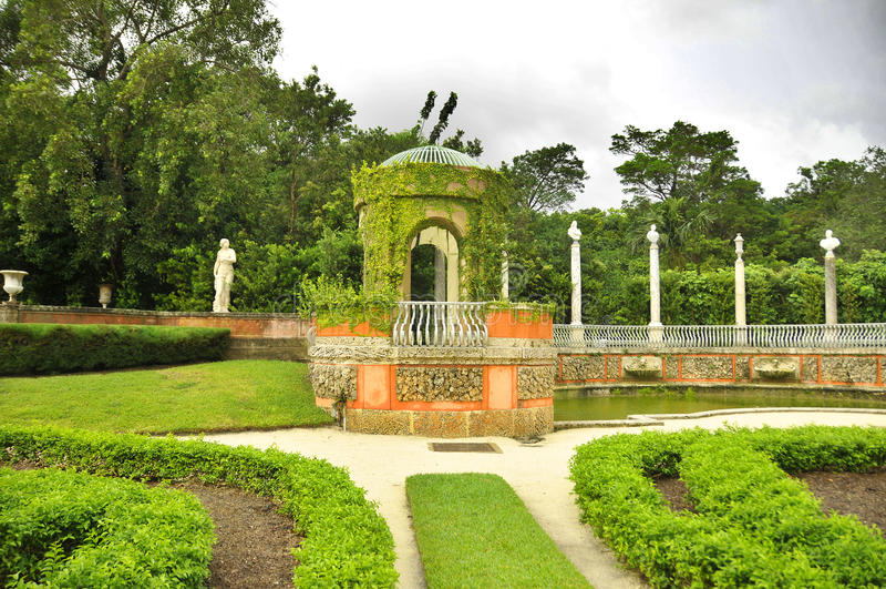 De het Museum en Tuinen van Biscaye stock foto's